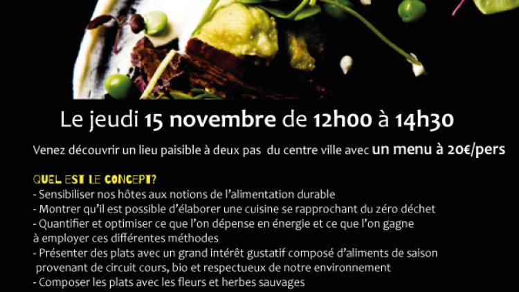 15.11.2018 | La table d'hôtes de l'écocentre: un lieu paisible, un super menu